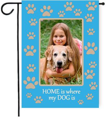 custom photo personalized dog flag