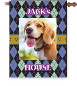 Let everyone know who runs the house... add text to any of our fun patterns to create a custom house flag!