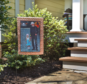 custom photo garden flag