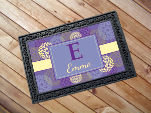personalized custom doormat recycled nonslip rubber