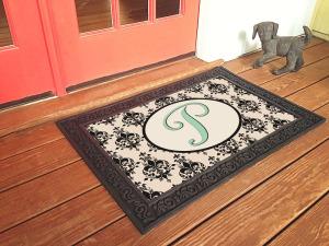 custom monogram doormat nonslip rcycled
