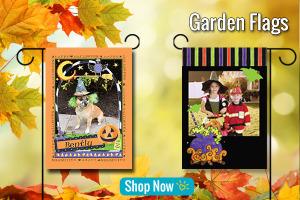 Fall Halloween personalized custom garden flag