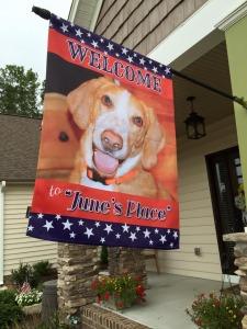 Personalized Dog House Flag