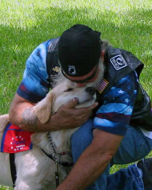 Veteran Tim and  Justice Service Puppy