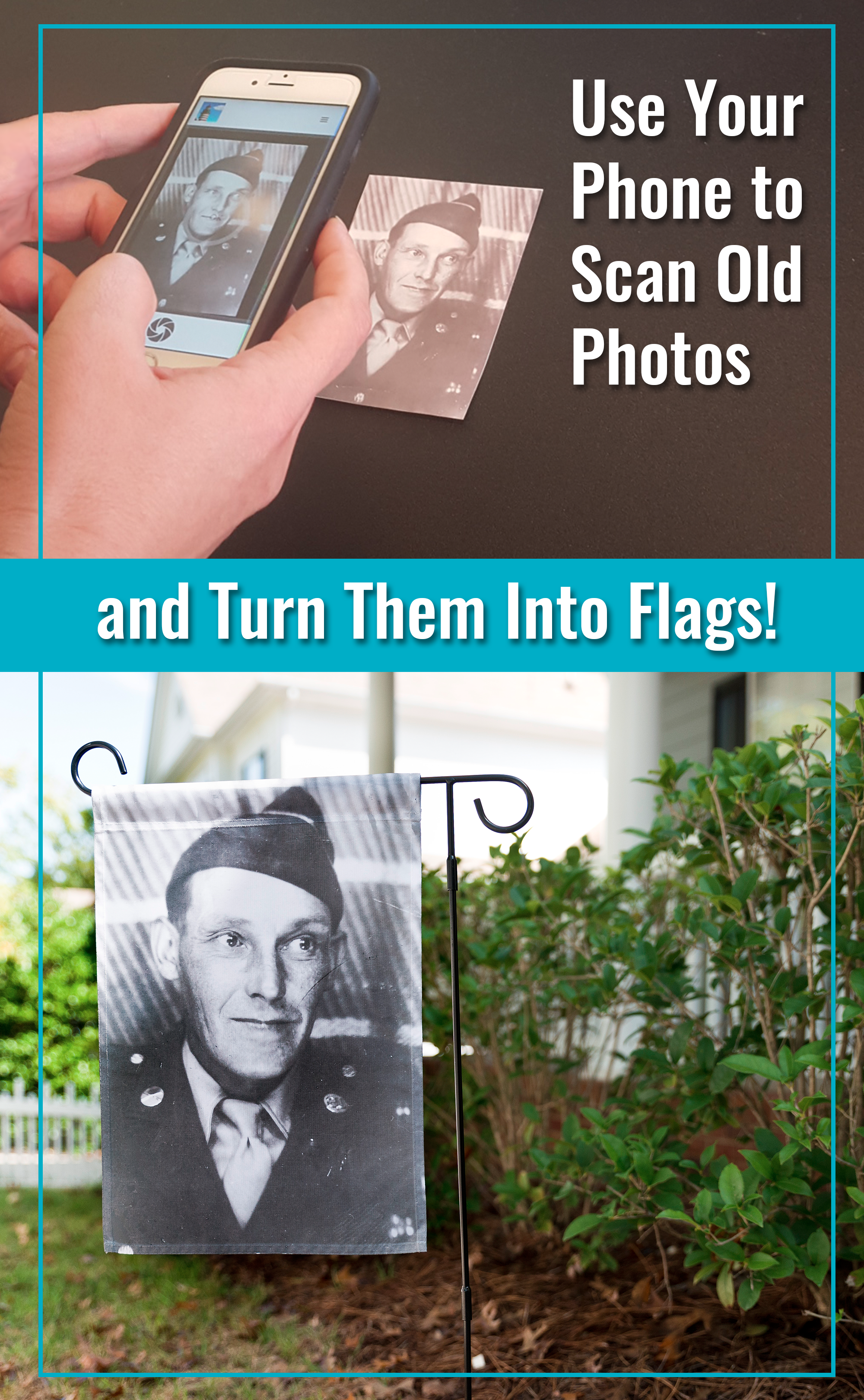 Use your phone to scan old photos and turn photos into flags
