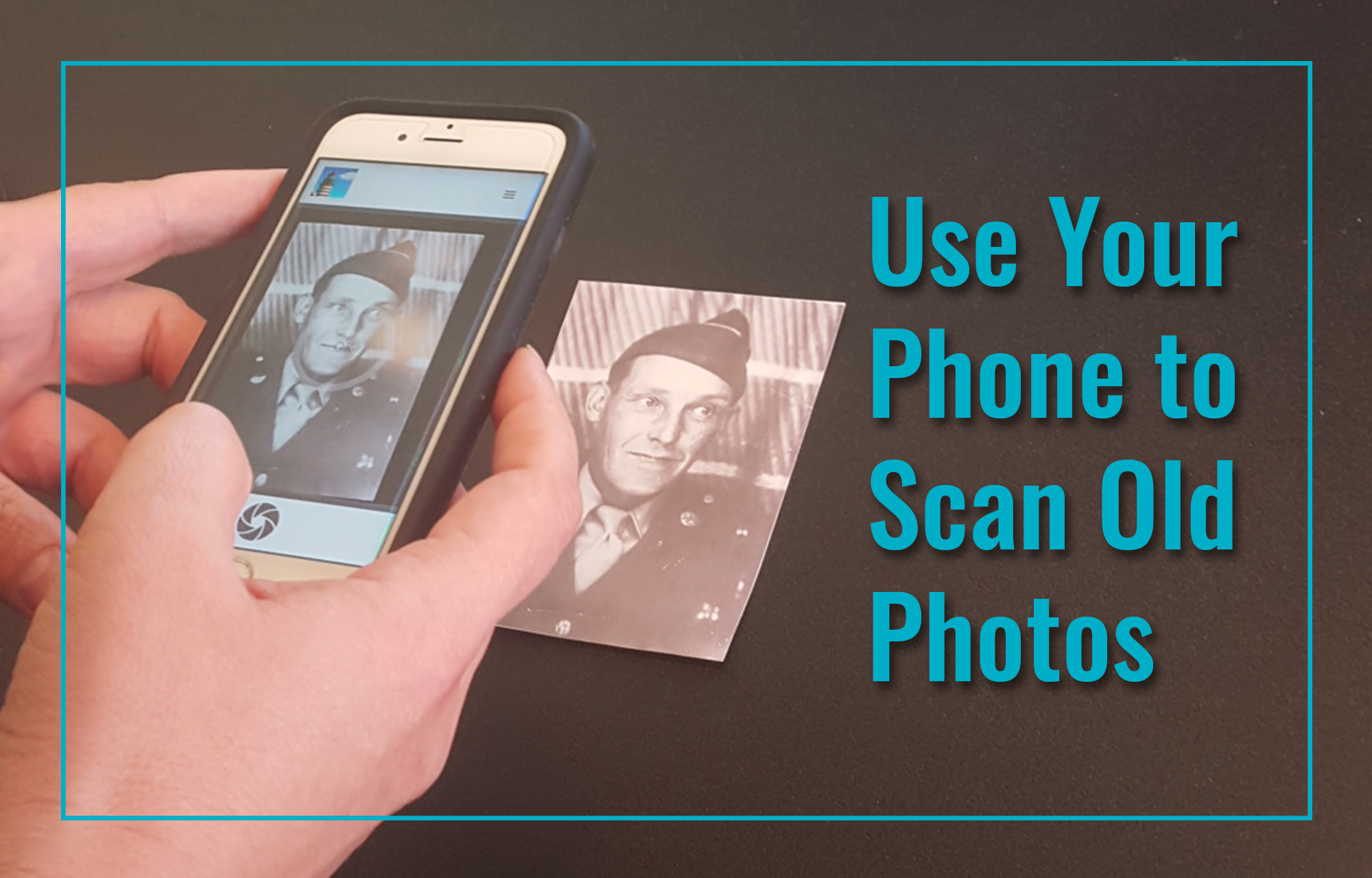Use your iPhone to scan old photos using PicScanner.